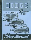 1941 42 43 44 45 46 47 48 DODGE PASSENGER CAR SHOP MANUAL