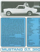 1965 SHELBY MUSTANG GT 350 2-COLOR SALES BROCHURE