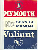 1963 63 PLYMOUTH BELVEDERE/ VALIANT/ FURY SHOP MANUAL