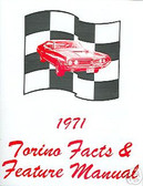 1971 71 FORD TORINO FACTS & FEATURE MANUAL