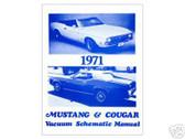 1971 71 MUSTANG/COUGAR VACUUM SCHEMATIC