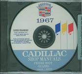 1967 CADILLAC SHOP/BODY MANUAL ON CD