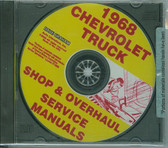 1968 CHEVROLET TRUCK FACTORY SHOP & OVERHAUL MANUAL ON CD