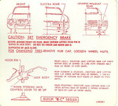 1968 BUICK ELECTRA/LE SABRE/WILDCAT JACK INSTRUCTION DECAL