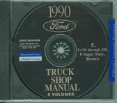 1990 FORD TRUCK SHOP REPAIR MANUAL ON CD-E, F-150 THRU 350, F-SUPER DUTY, BRONCO