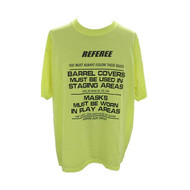 T-Shirt Paintball Referee Safety Green 3XLarge