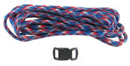 DIY Paracord Survival Bracelet Kit Red/ White/ Blue