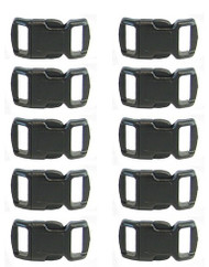Paracord Bracelet Buckle 10 Pack Black