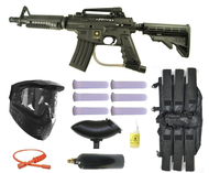 US Army Alpha Black Tactical Paintball Gun Kit