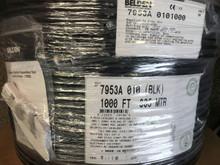Belden 7953A Black Cat6 Shielded DataTuff EtherNet/IP CMR 1000 Feet
