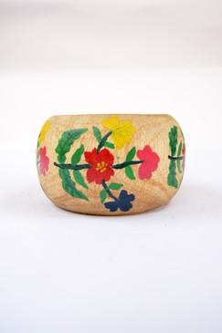 Floral Wooden Bangle