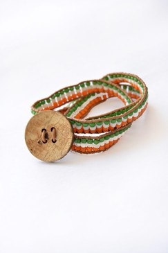 3X India Beaded Wrap Bracelet