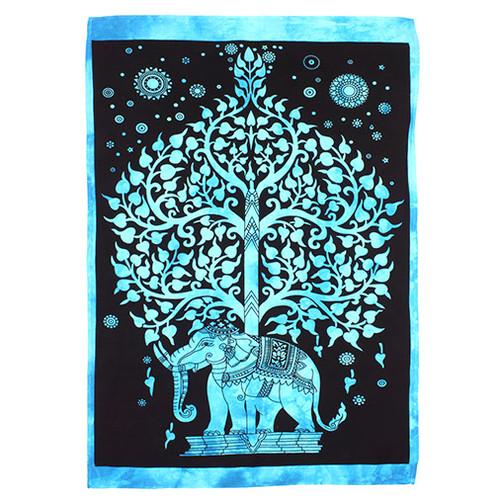 Elephant Tree Wall Hanging - Blue