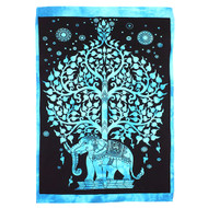 Elephant Tree Wall Hanging - Blue