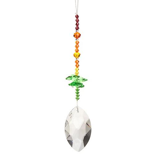 Kuya Oval Crystal Suncatcher - Green
