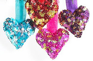 Sequin Hanging Heart Decorations