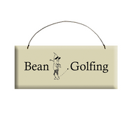 Bean Golfing Wooden Plaque