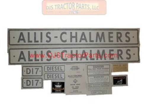 Allis Chalmers D17 DIESEL 1959-1961, VINYL CUT DECAL SET - DJS335