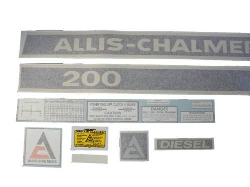 Allis Chalmers 200 diesel VINYL CUT DECAL SET - DJS303