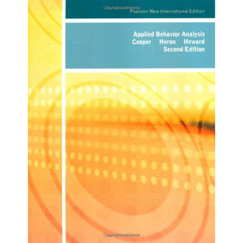 Applied Behavior Analysis (2nd Edition) Cooper IE