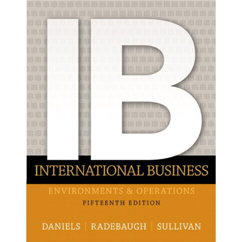 International Business (15th Edition) Sullivan