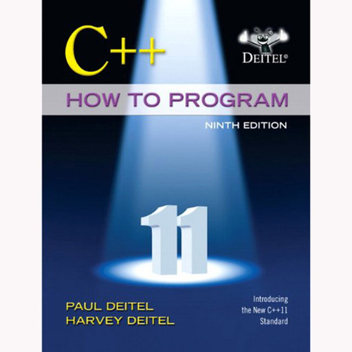 C++ How to Program (Early Objects Version) (9th Edition) Deitel