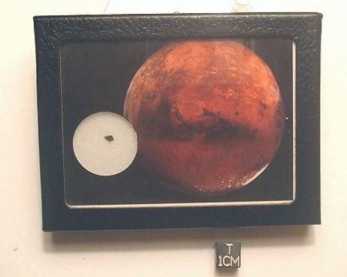 MARS ROCK Display, Martian Meteorite, Basaltic Shergottite