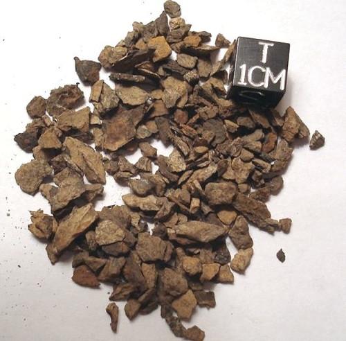 Lanton, Missouri IIIAB Iron Meteorite, Shale Micromount