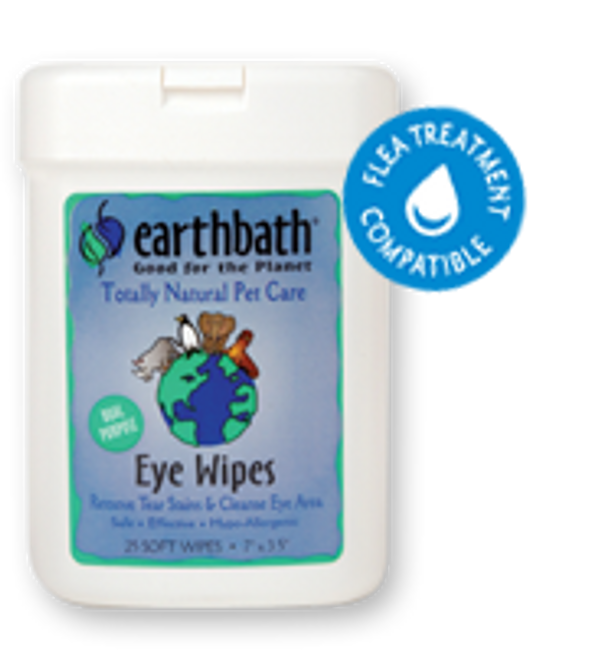 EarthBath Eye Wipes (25 Soft Wipes)