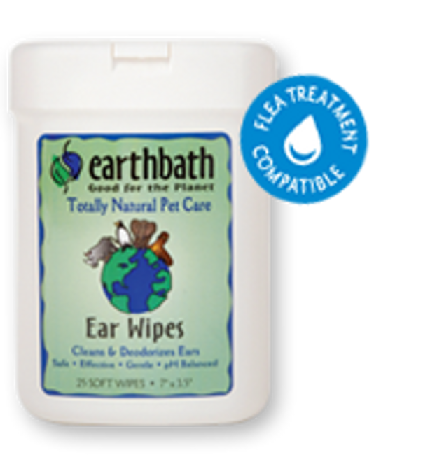 EarthBath Ear Wipes (25 Soft Wipes)