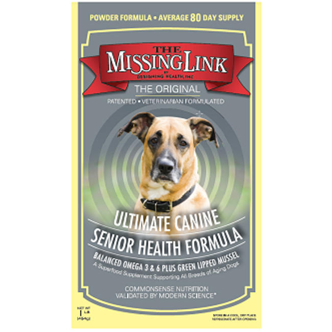 Missing Link Ultimate Canine Senior Health Formula - 1 lb. Pouch