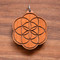 Seed of Life in Cherry wood