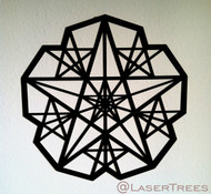 Five Sided Star Pentagram Wall Art
