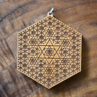 Tetrahedron Fractal in Cherry wood