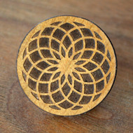 Tube Torus Cherry Wood Hat Pin