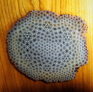 Flower of Life Warp Grid Design by Rooz Kashani - Laser Engraved Agate