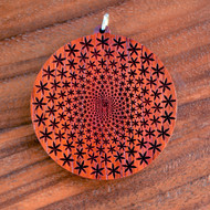 Flower Vortex in African Padauk wood