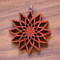 Divine Diamond Fractal in African Padauk wood