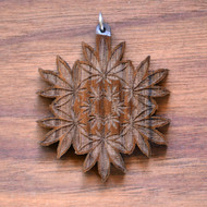 Hemp Leaf Mandala in Walnut wood