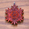 Hemp Leaf Mandala in African Padauk wood