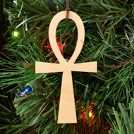 Ankh Ornament - Sacred Geometry - Laser Cut Wood