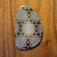 64 Sided Tetrahedron Grid - Laser Engraved Agate