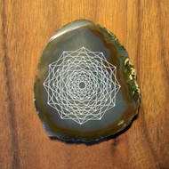 Merkaba in Motion - Laser Engraved Agate