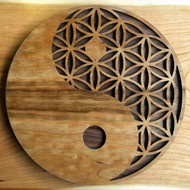 Yin Yang Flower of Life Wall Art