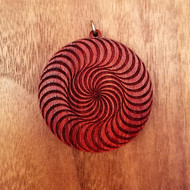 Double Circle Spiral in African Padauk wood