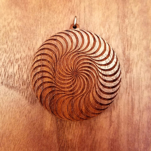 Double Circle Spiral in Walnut wood