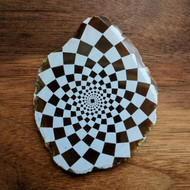 Phi Checker - Laser Engraved Agate
