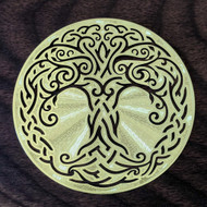 "Tree Of Life - 18 Karat Gold Plated Crystal Grid - 2.8"""