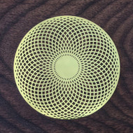 Tube Torus - 18 Karat Gold Plated Crystal Grid - 2.8""