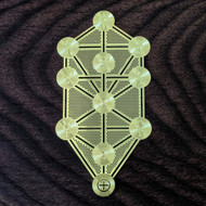 "Tree of Life Kabbalah - 18 Karat Gold Plated Crystal Grid - 2.8"""